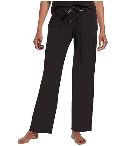 HUE Solid Long PJ Pants with Temp Tech (Black) Women