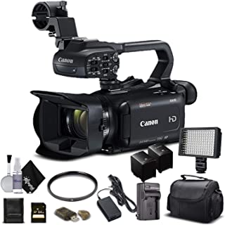 Canon XA11 Compact Full HD Camcorder 2218C002 with 64GB Memory Card, Extra Battery and Charger, UV Filter, LED Light, Case...