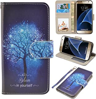 UrSpeedtekLive S7 Case, Galaxy S7 Wallet Case, Premium PU Leather Wristlet Flip Case Cover with Card Slots & Stand for Samsung Galaxy S7, Believe in Yourself