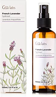Lavender Floral Water Mist - 100% Pure Hydrosol Spray for Pillows, Sleep and Rooms (3.4 oz) - Gya Labs