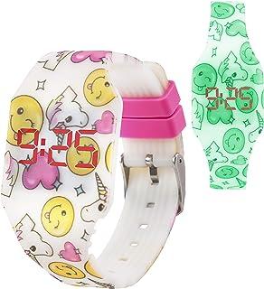 KIDDUS Digital LED Montre pour Filles, Garçons, Ados. Bracelet en Silicone. Batterie Japonaise de Longue Durée Remplaçabl...