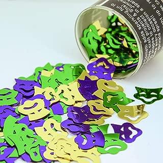 Confetti Mask - Comedy & Tragedy Mask Mardi Gras Mix - Retail Pack #9265 - Free Ship