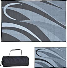 Stylish Camping Ming's Mark GA1 Reversible Graphic Patio Mat-8' x 12', Black/Silver