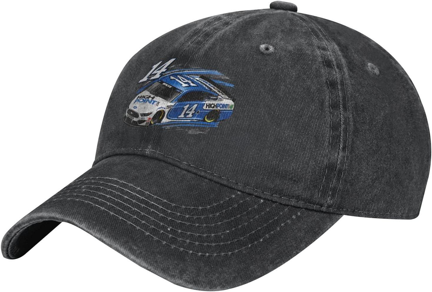 GAiNViEW Chase Briscoe 14 Denim Cap Adjustable Plain Baseball Cowboy Hat Cotton Sunbonnet Plain Hat Black