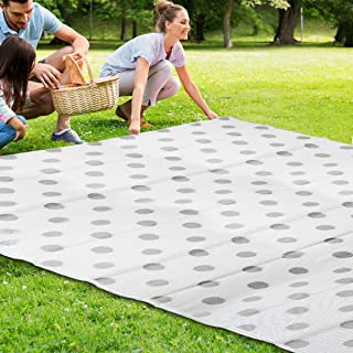Large Floor Mat and Rug,Plastic Straw Rug,Reversible Mats, Fade Resistant Area Rug for Outdoors, Indoor RV, Patio, Backyard, Deck, Picnic, Beach, Trailer, Camping Beach Mat Patio Rug (9' x 12')