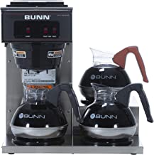 BUNN 13300.0003 VP17-3SS3L Pourover Commercial Coffee Brewer with 3 Lower Warmers,..
