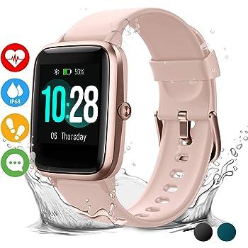 Vigorun Reloj Inteligente Pantalla Táctil Smartwatch para Hombre Mujer Niños Impermeable IP68 Pulsera Actividad Reloj Deportivo con Podómetro Control de Música Monitor de Sueño: Amazon.es: Electrónica