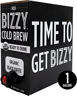 Bizzy Organic Cold Brew Coffee | Ready to Drink On Tap | Makes 16 Cups | 128 fl oz