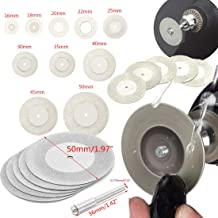 DIY Crafts 5 Pcs Mini Cutting Disc +1 Mandrel for Rotary Tool Accessories Diamond Grinding Wheel Circular Saw Blade Abrasive (Pack of 5 Pcs 40mm + 1 Mandrel, 1 Mandrel Silver Colour Multi Utility)