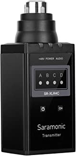 جهاز إرسال بمايكروفون لاسلكي من سارامونيك VHF XLR لميكروفون الفيديو الاحترافي SR-WM4C (SR-XLR4C)