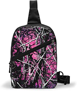 Crossbody Bags Women Men Sling Backpack Travel Hiking Daypack Pattern Rope Shoulder Bag