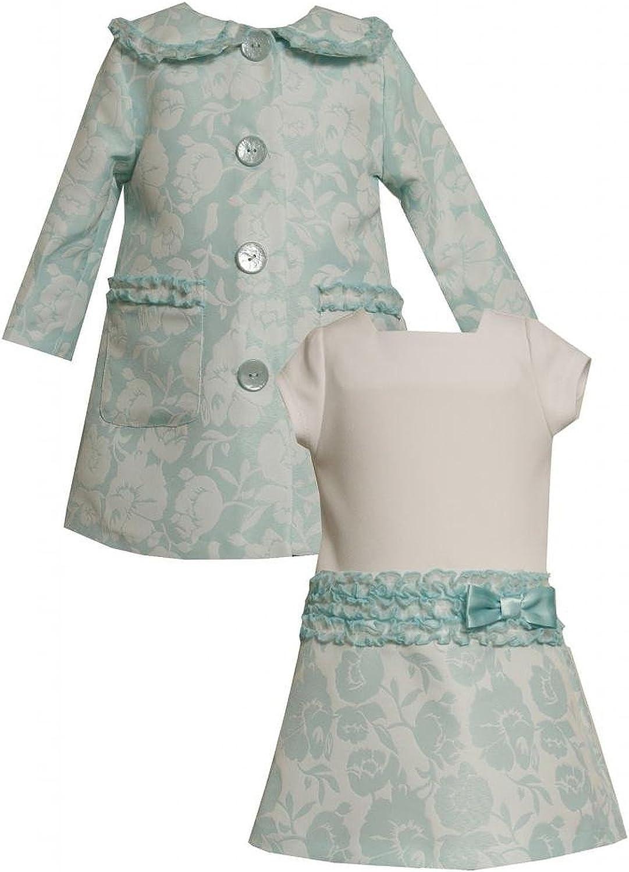 Baby Girls 3M-24M Orange//Black/&White Dress Bonnie Jean Bows /& Polka Dots
