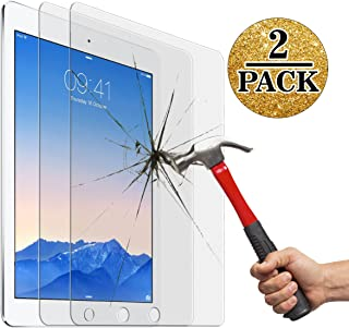 Screen Protector for New iPad 9.7inch (2017),IPad Air 1 2/ Ipad Pro 9.7 Inch (2 Packs), Jusney 0.33mm Ultra Thin 9H Hard Crystal Clear Tempered-Glass High Response 3D Touch