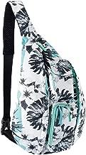 Unisex Sling Bag Crossbody Sling Backpack Mutilpurpose Shoulder Daypack with Adjustable Strap for Women Men Boys Girls