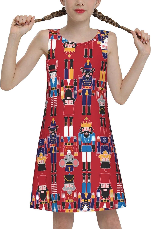 Royal Guard Sleeveless Dress for Girls Casual Printed A-Line Jumper Skirt