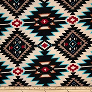 Baum Textiles Winterfleece Shadow Diamond Multi Yard, Multicolor
