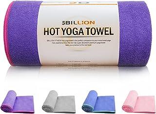 5BILLION Microfibra Asciugamano Yoga - 183 cm x 61 cm - Antiscivolo Asciugamano Yoga - Bikram Yoga Asciugamano, Ashtanga Yoga Asciugamano - Super Assorbente, Non Slittamento, Asciugatura Rapida