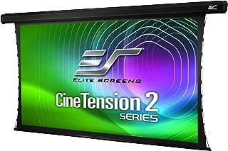 Elite Screens CineTension 2, 84-inch Diagonal 16:9, 4K/8K Tab-Tensioned Electric Drop Down Projection Projector Screen, TE84HG2