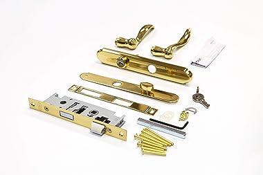 Larson Certified Storm Door Revere Mortise Handle Set (Brass)