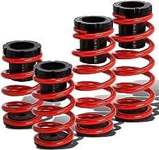 For Mitsubishi 3000GT/Dodge Stealth Adjustable Coilover Suspension Lowering Spring (Red)