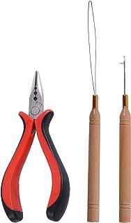 3-Hole Hair Pliers+ Micro Pulling Needle+Loop Threader for Hair Hair Extension Tools