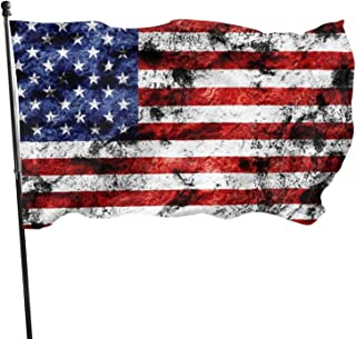 Granbey American Flag Blurry Premium Us Flags Weatherproof Standard American Flags with Embroidered Stars Sewn Stripes Ban...