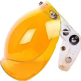 Chern Yueh Motorcycle Helmet Bubble Shield with Flip Adapter for 3-Snap Half Open Face Helmets (Orange)