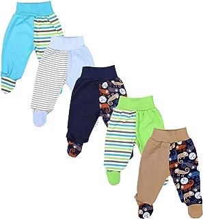 TupTam Pantalon avec Pieds pour Bébé, Lot de 5