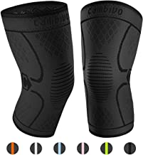 CAMBIVO 2 Pack Knee Brace, Knee Compression Sleeve Support for Running, Arthritis,..