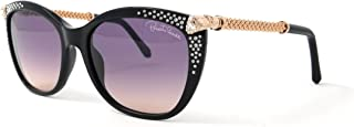 RC979S Tania Sunglasses 57 01B Shiny Black Gradient Smoke