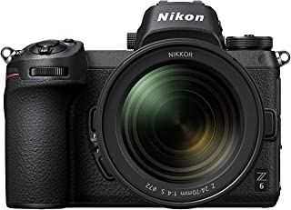 Nikon 2724669299909 Z6 FX Format Mirrorless Camera with Nikkor Z 24-70mm f/4 S Lens (Black)
