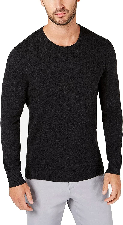 Alfani Ranking TOP17 Jacksonville Mall Mens Sweater Small Crewneck Knit S Pullover Solid Black
