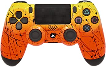 Sponsored Ad - Hand Airbrushed Fade Playstation 4 Custom Controller (Yellow & Orange)