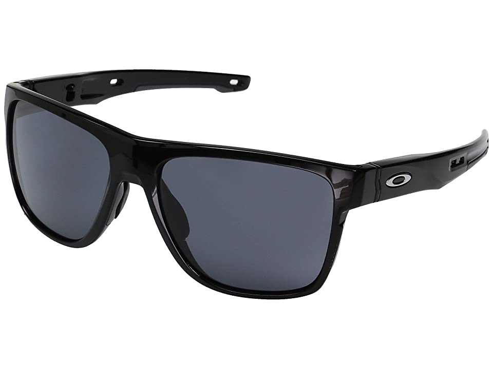Oakley Crossrange XL (Polished Black w/ Grey) Fashion Sunglasses