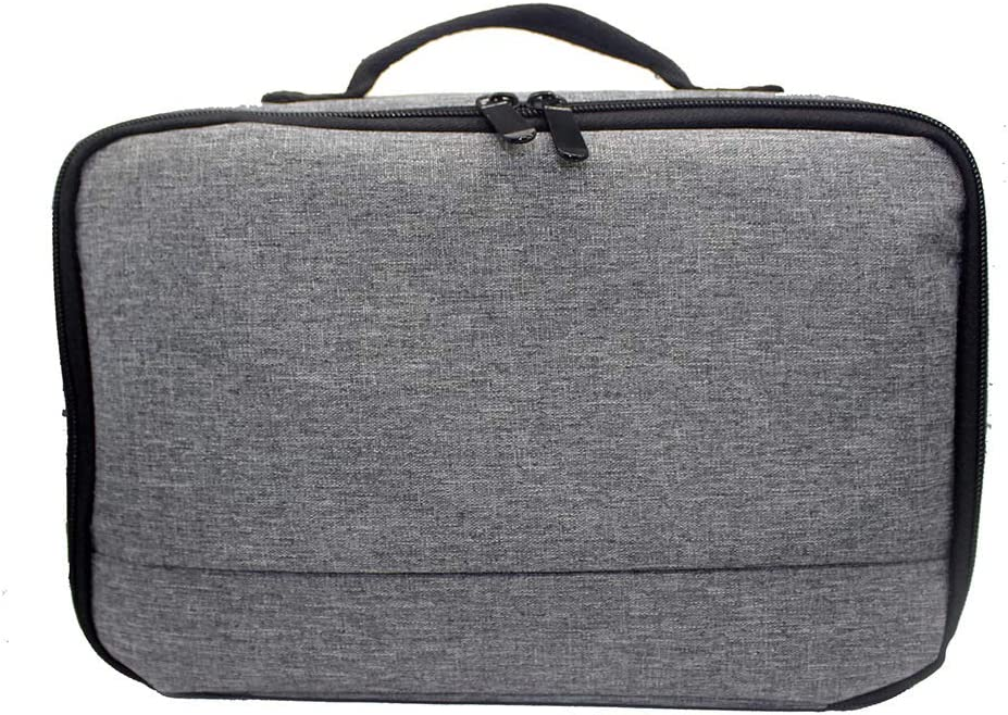 Funien Projector Case,Portable Grey Projector Storage Bag Case Universal Carrying Bag Travel Storage Organizer for Projectors and Accessories