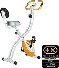 Ultrasport F-Bike 150/200B Bicicleta estática con sensores de Pulso de Mano, con/sin Respaldo, Plegable, Unisex