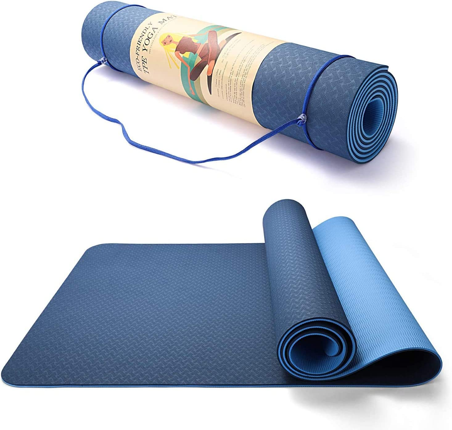LACHO 1 3 Inch Yoga Mat 8mm Max Sales results No. 1 77% OFF Thick Fr Exercise Extra Fitness Eco