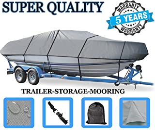 SBU Boat Cover for Klamath 18 Offshore W/DC W/Glass Windshield All Years Heavy-Duty