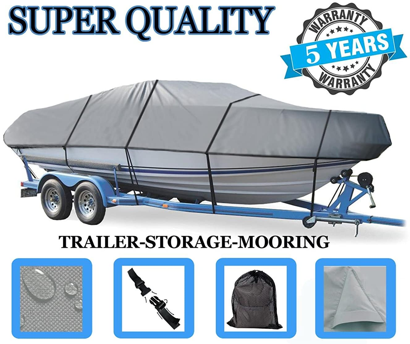 Boat Cover for Mariah R19.9 W/EXTD SWPF 2008-2011 Heavy-Duty