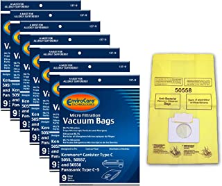 EnviroCare Replacement Vacuum Bags for Kenmore Canister Type C or Q 50555, 50558, 50557 and Panasonic Type C-5 63 Bags