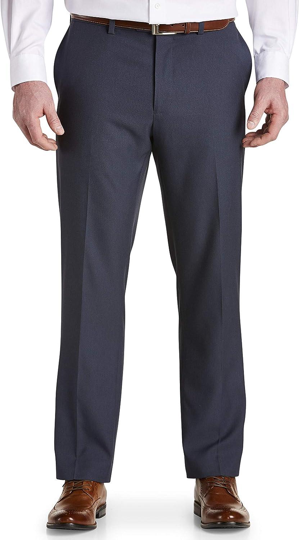 Gold Series by DXL Big and Tall Waist-Relaxer Sorbtek Dress Pants, Navy