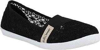 Stiefelparadies Femme Ballerines Sportives 52924 Noir Noir 36 Flandell