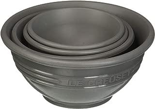 Le Creuset FA205-7F 4 Piece Silicone Prep Bowl Set, Oyster