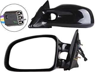 SCITOO Door Mirrors, fit Pontiac Exterior Accessories Mirrors fit 1999-2003 Pontiac Grand Am with Power Controlling Non-telesccoping Non-Folding Features (Pair)