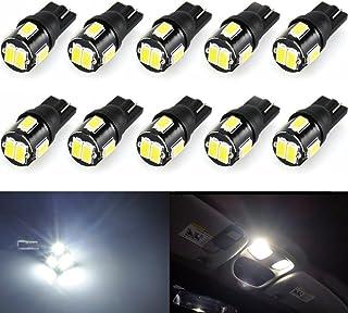 Wincar Super Bright T10 LED Bulbs 6000K White 194 168 175 2825 W5W T10 Wedge LED Light Bulbs 6smd 5630 Chip for Car Interi...