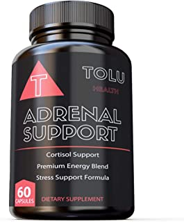 Adaptogen Complex for Cortisol Health - 60 Capsules - Adrenal & Thyroid Support, Stress & Anxiety Relief, and Cortisol Balance - Ashwagandha, Rhodiola Rosea, Holy Basil, Panax Ginseng, Maca, and More