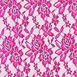 Fabulous Fabrics Spitze hot pink, Blume, 150cm breit –