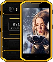 E&L W7 Unlocked Phone IP68 Wateproof 5.0 Inch 16GB ROM/1GB RAM Dual SIM Unlocked Cell Phones Camera 8.0MP Outdoor Smartphone