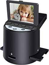 """$149 » Digital Film Scanner with 22MP, Converts 35mm, 126, 110, Super 8 Films, Slides, Negatives to JPEG, Tilt-Up 3.5"""" LCD, Includes Cables, Film Inserts&More, MAC and PC Compatible"""