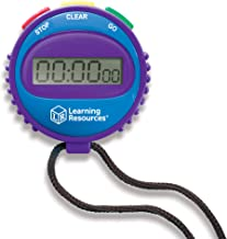 Learning Resources Simple 3 Button Stopwatch, Supports Science Investigations, Timed Math Exercises, Elapsed Time Tracking...